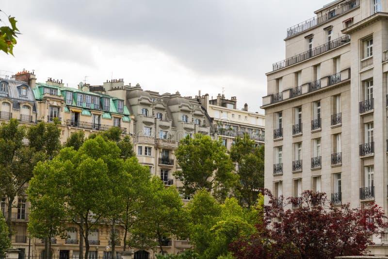 街道视图,巴黎 库存照片