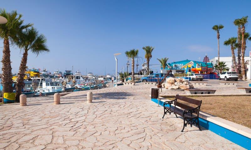 街道视图Ayia Napa手段,塞浦路斯 免版税图库摄影
