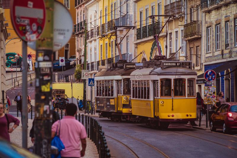 街道里斯本,葡萄牙3 库存照片
