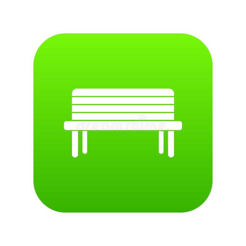 街道长凳象数字式绿色 库存例证