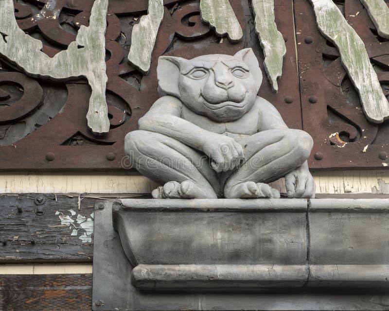 街道雕塑,西雅图华盛顿,美国 免版税库存照片