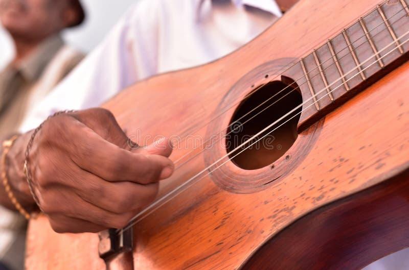 街道音乐家在特立尼达 库存图片