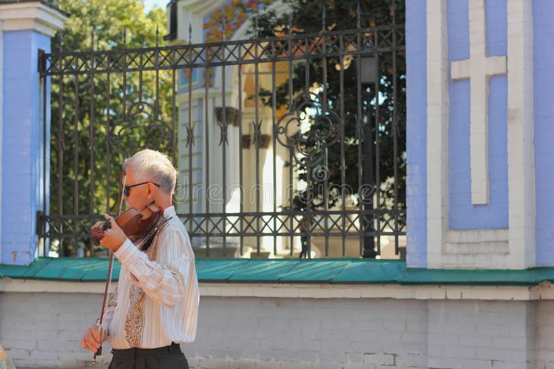 街道音乐家 图库摄影