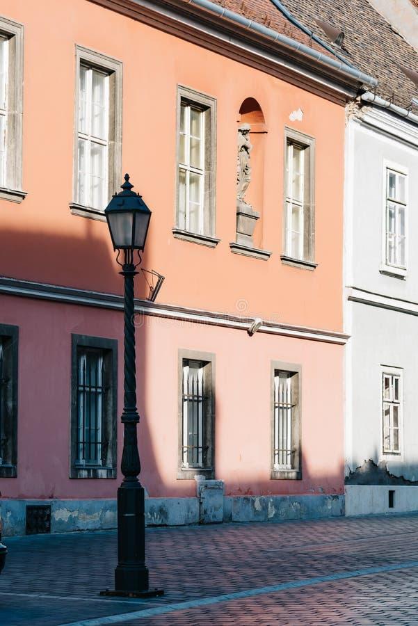 街道风景看法在布达佩斯 免版税库存照片