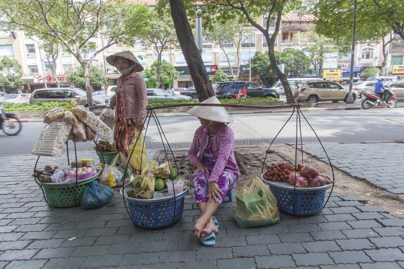 街道食品厂家在越南 库存图片