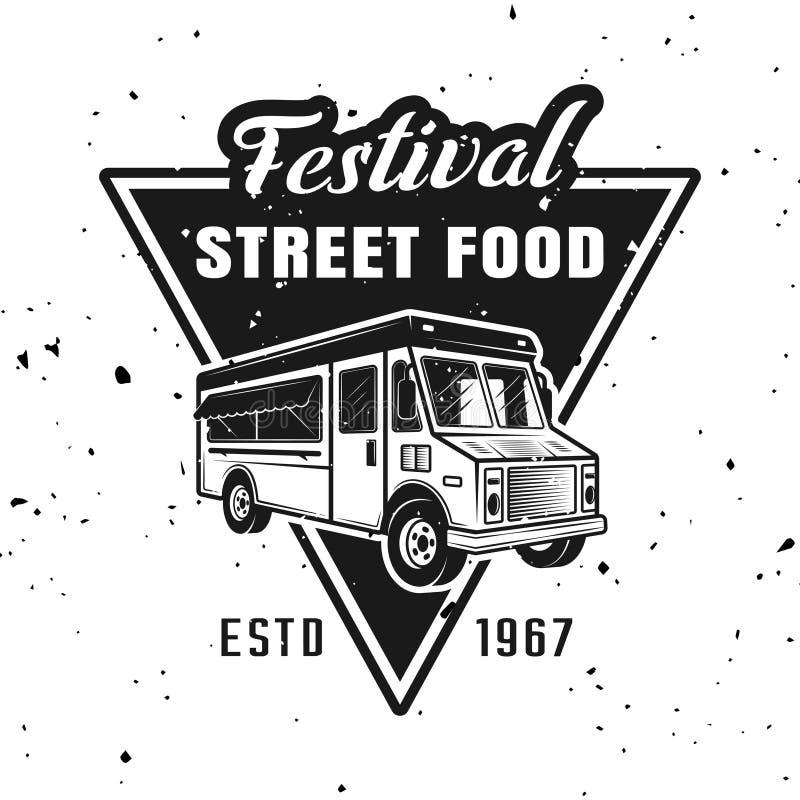 街道食物传染媒介单色象征节日  库存例证
