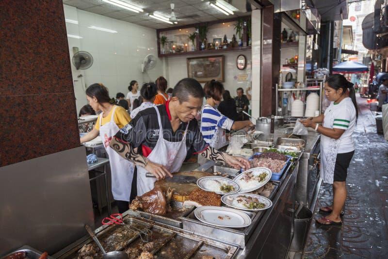 街道食物在曼谷,泰国 免版税图库摄影