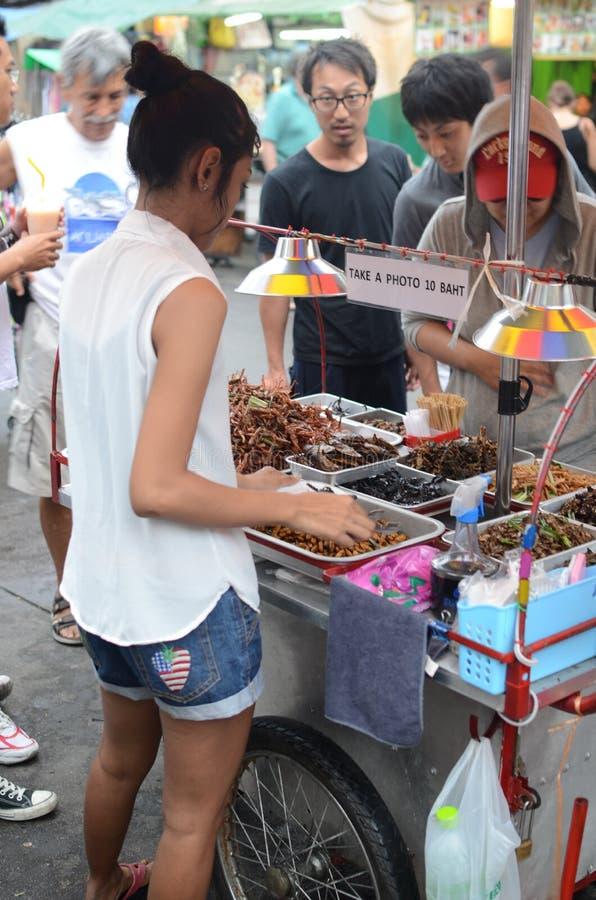 街道食物在曼谷 库存照片
