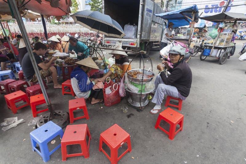 街道食物在胡志明市 免版税图库摄影
