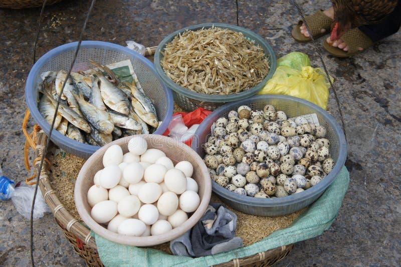街道食物在越南 免版税库存照片