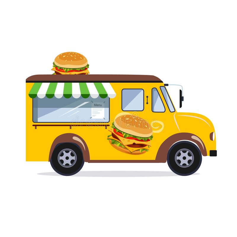 街道食物搬运车 库存例证