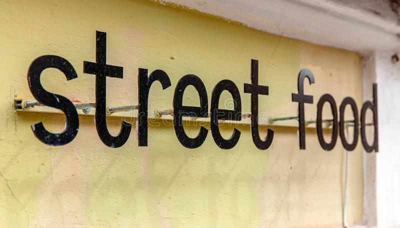 街道食物标志 图库摄影