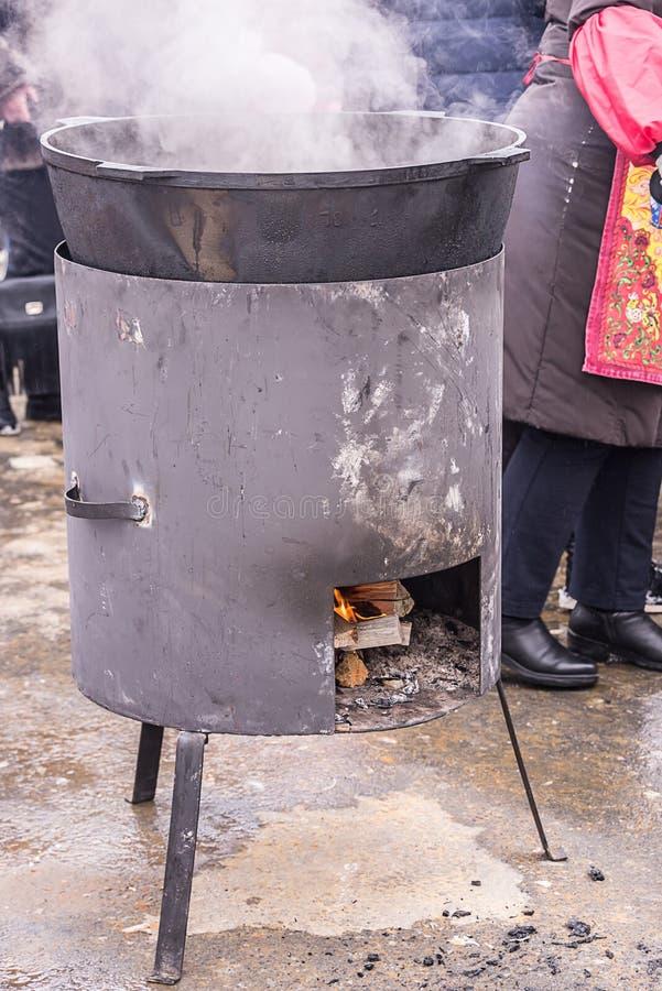 街道食物烤箱 图库摄影