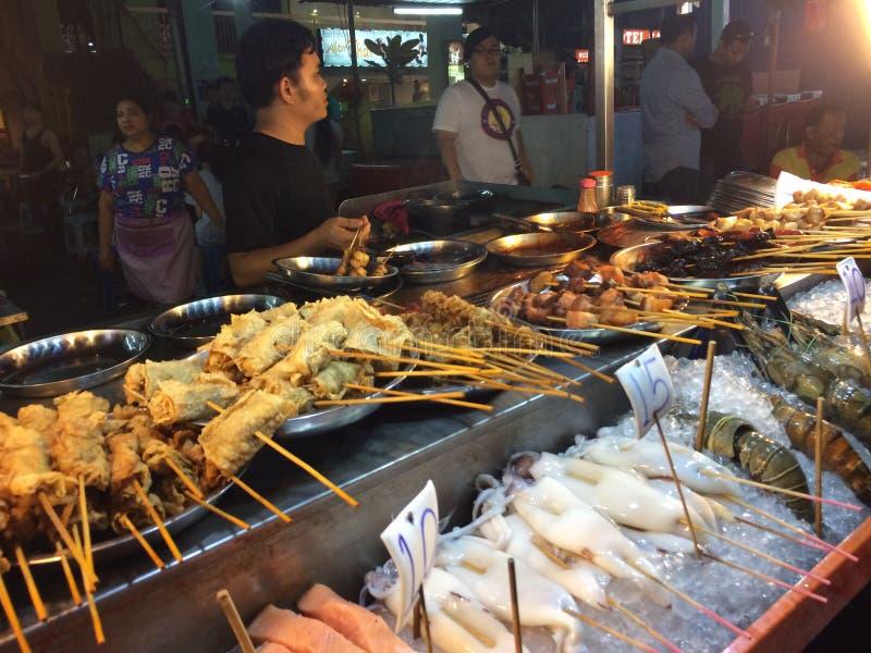 街道食物马来西亚,夜生活 免版税库存照片