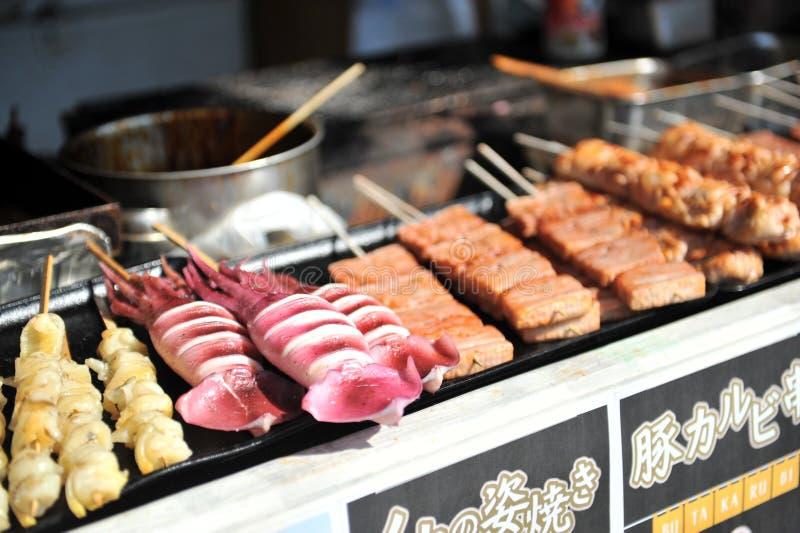 街道食物(日本) 免版税库存图片