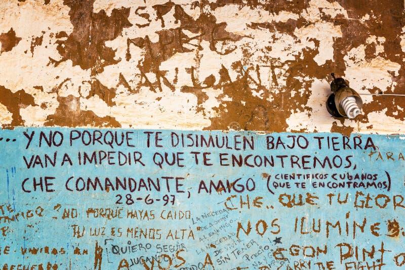 街道画切・格瓦拉死了的地方 库存图片