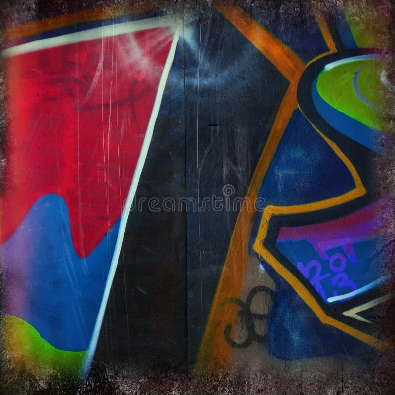 街道画和色的斑点的片段 库存图片