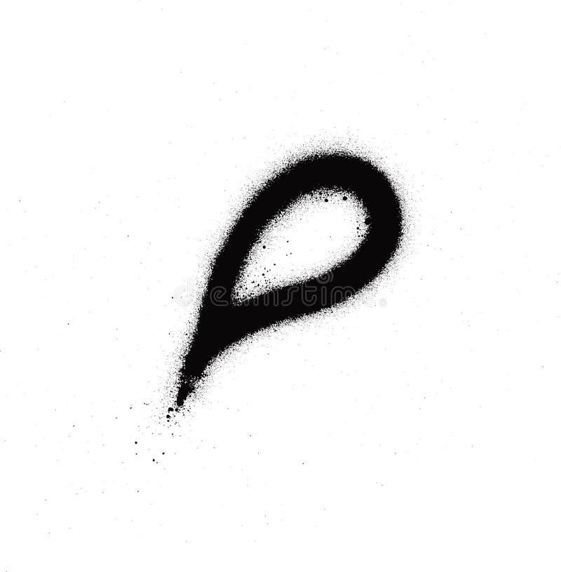 街道画喷洒了在黑色的滴水小滴在白色 向量例证