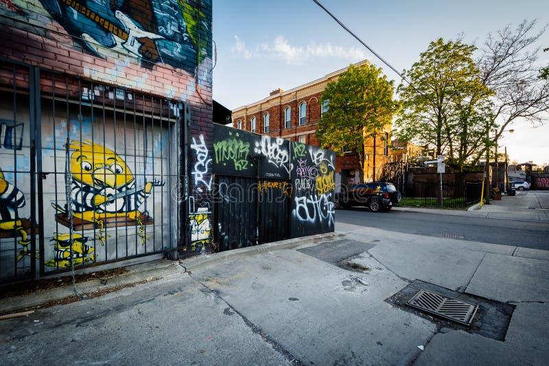 街道画在街市多伦多,安大略 库存照片