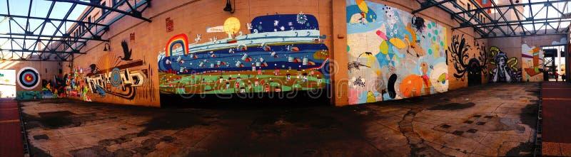 街道画在里士满弗吉尼亚 库存照片