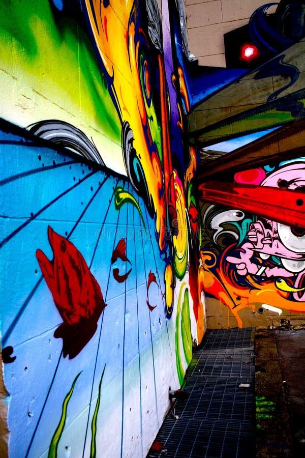 街道画在里士满弗吉尼亚 免版税库存图片