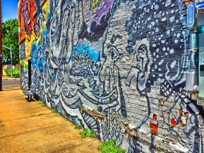 街道画墙壁艺术 库存照片