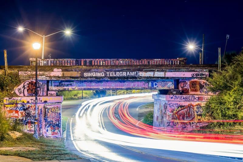 街道画桥梁 库存照片