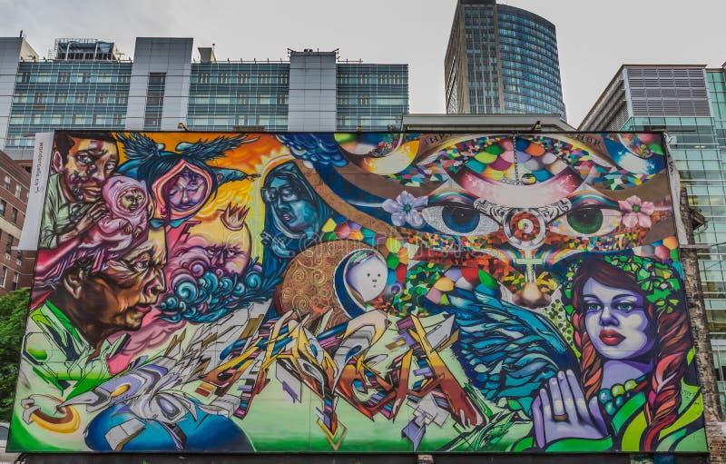 街道画艺术在多伦多 库存图片