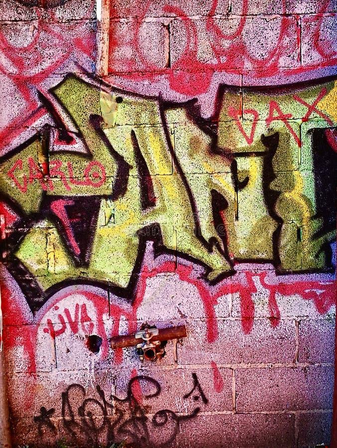 街道画街道艺术墙壁在少数民族居住区郊外 库存照片