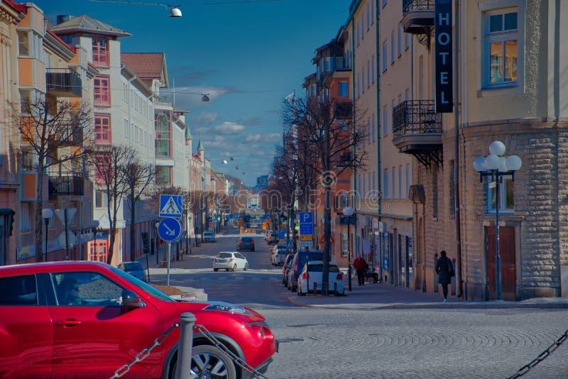 街道/车道在瑞典 库存照片