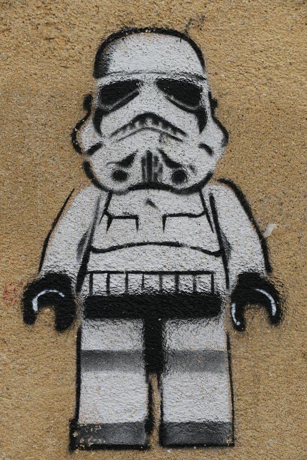 巴黎街道画 免版税库存图片