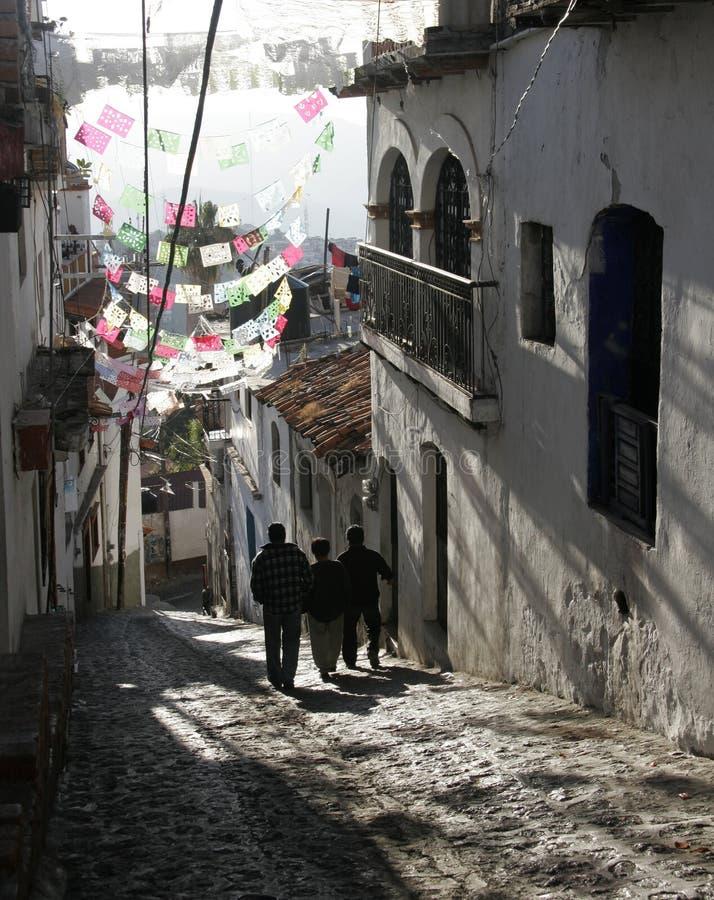 街道taxco 免版税图库摄影