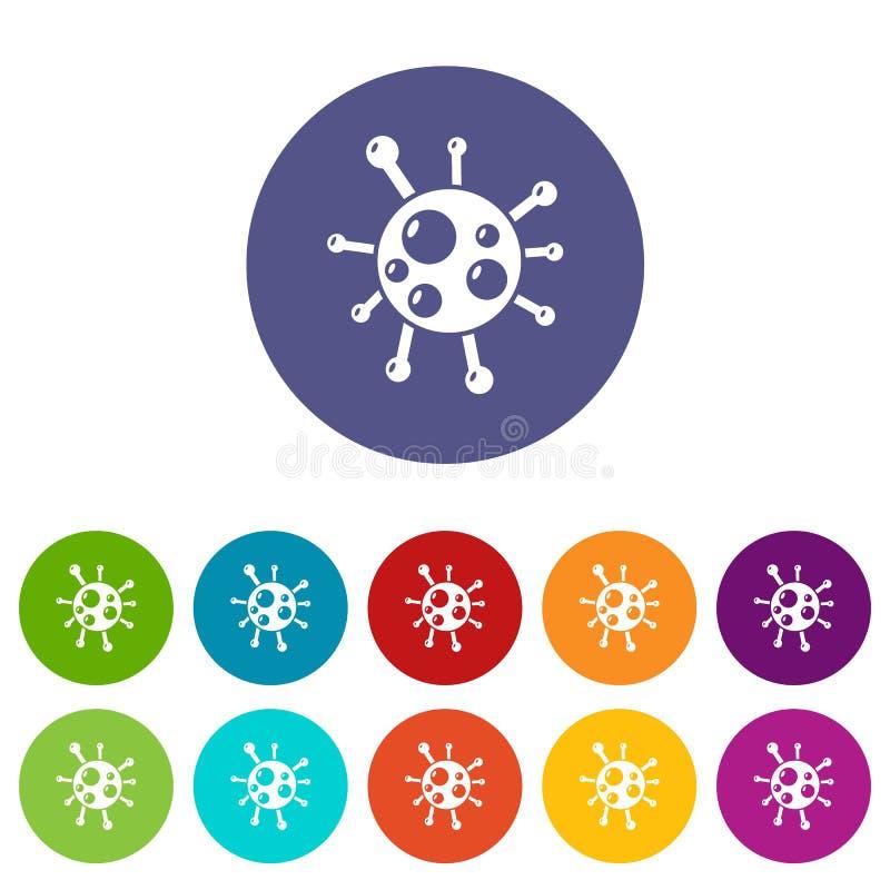 衣原体病毒象被设置的传染媒介颜色 库存例证