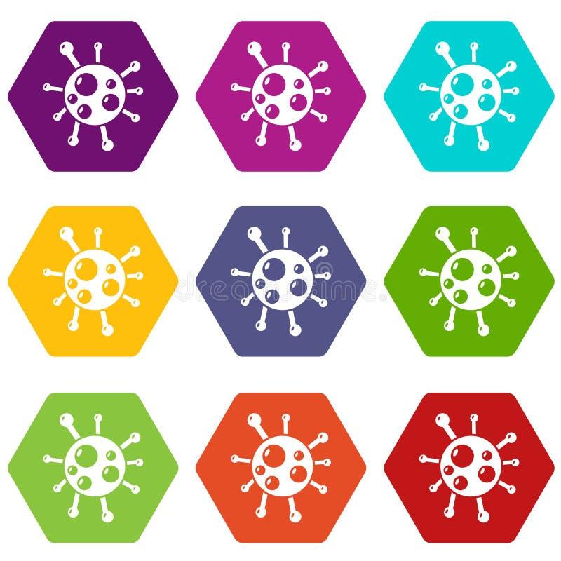 衣原体病毒象设置了9传染媒介 库存例证