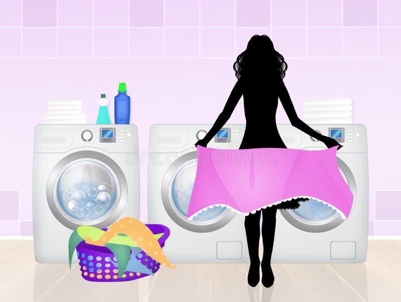 洗衣服务 皇族释放例证