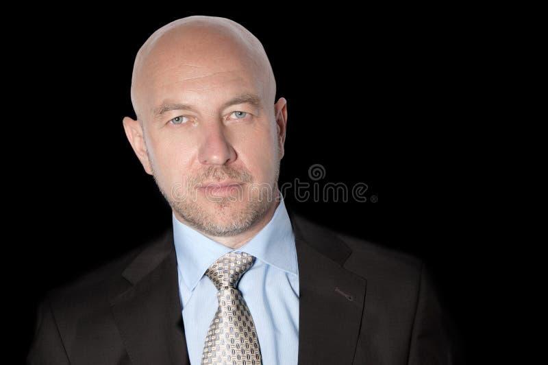 衣服和领带的秃头人 库存图片