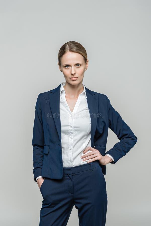 衣服的确信的女实业家 库存照片