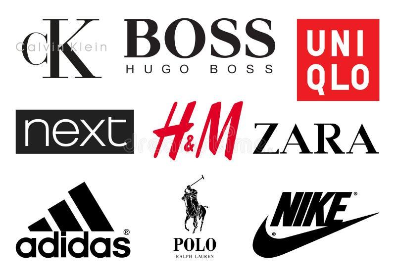 衣物品牌 向量例证