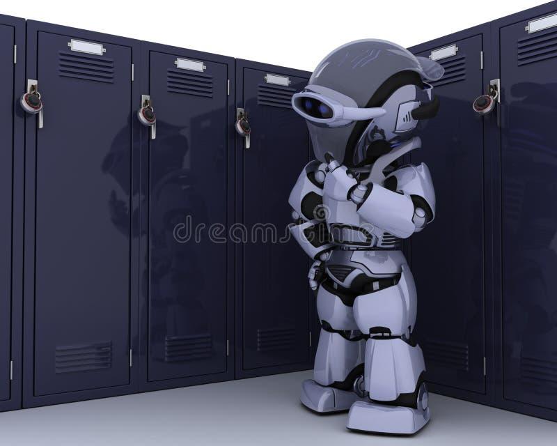 衣物柜机器人学校 向量例证