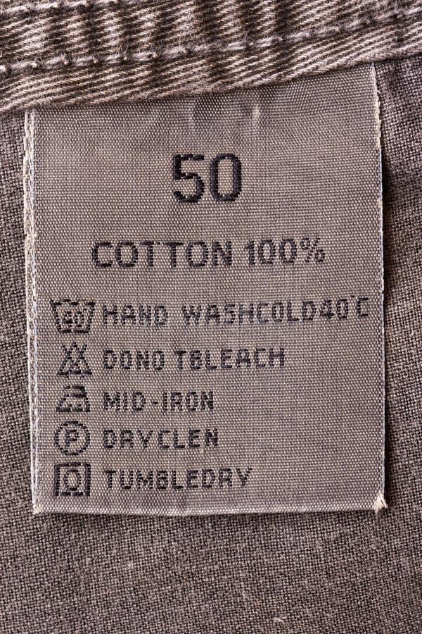 衣物标签 免版税图库摄影