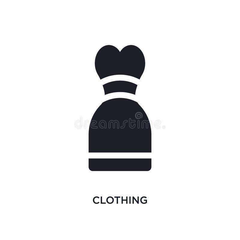衣物被隔绝的象 简单的元素例证从缝合概念象 在白色的衣物编辑可能的商标标志标志设计 向量例证