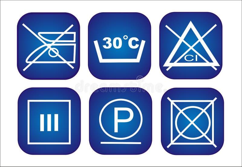 衣裳保护图标设置了 免版税库存图片