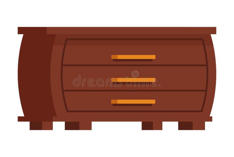 衣裳碗柜象动画片隔绝了 库存例证