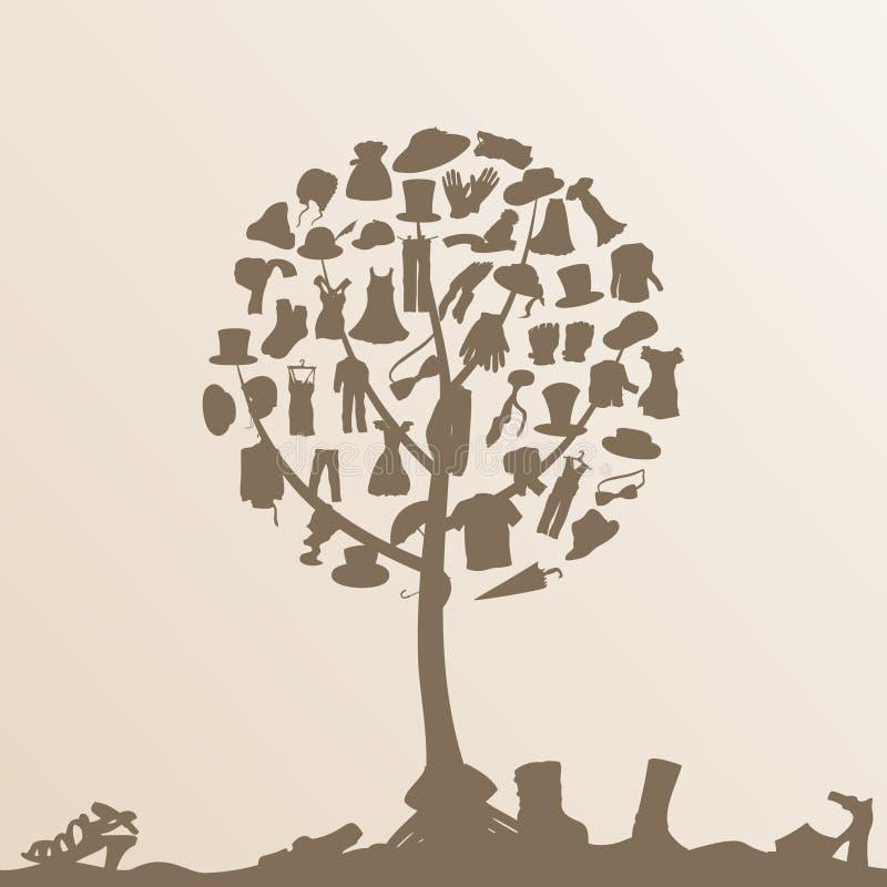 衣裳结构树 皇族释放例证