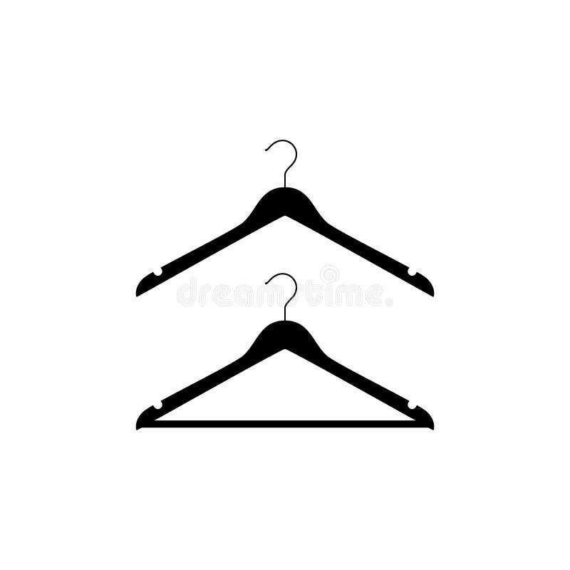 衣裳象集合的挂衣架 衣物挂衣架象 向量例证