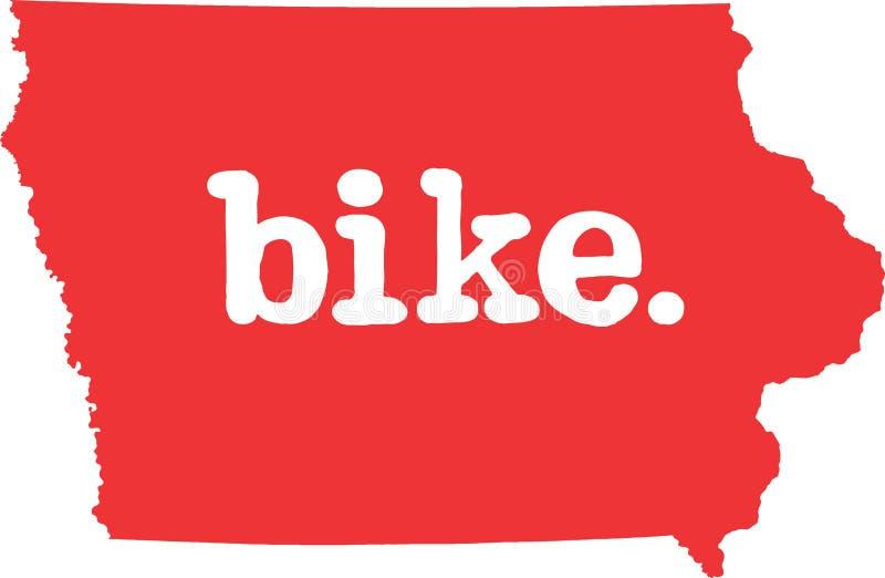 衣阿华自行车状态向量标志 库存例证
