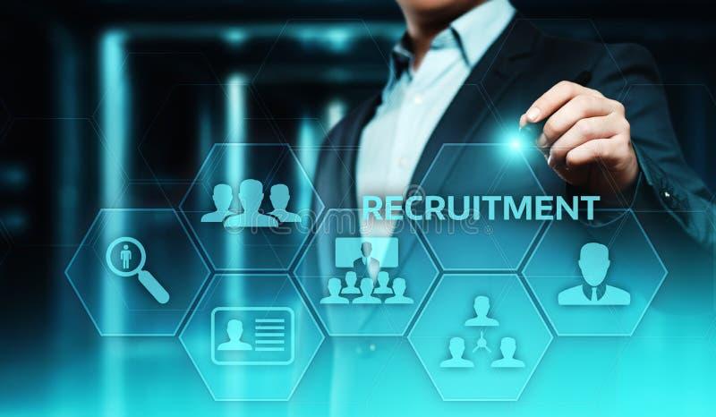 补充事业雇员采访企业HR人力资源概念 库存例证