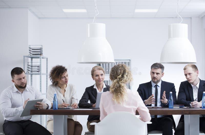 补充会议在公司中 免版税图库摄影