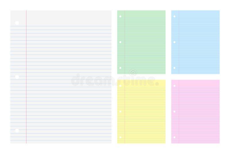补白纸的颜色 向量例证