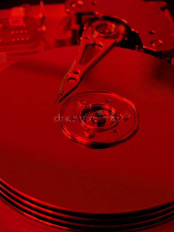 补白harddrive于红色 库存照片